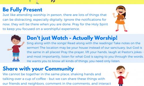 Online Worship – April 25th/26th, 2020