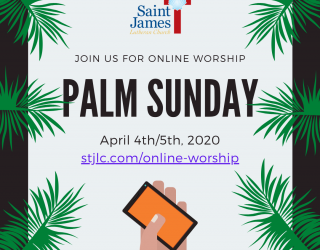Palm Sunday Online Worship Available Now!