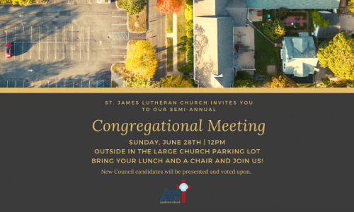 Congregational Meeting – Sunday, June 28th, 2020 – 12pm