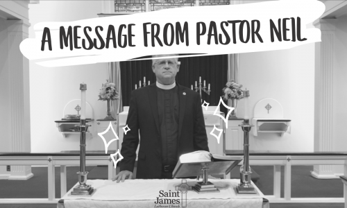 A Special Message from Pastor Neil – November 2nd, 2020