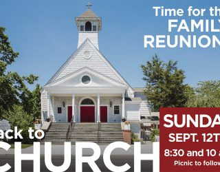 Back to Church Sunday!
